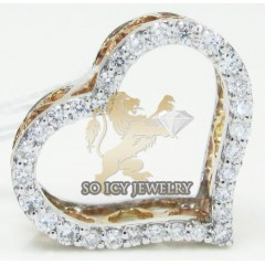 Ladies 18k Rose Gold Diamond Heart Pendant 0.31ct
