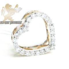 18k Rose Gold Diamond Heart Pendant 0.22ct