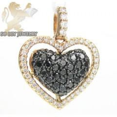 18k Rose Gold Black Diamond Heart Pendant 0.62ct