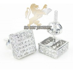 10k White Gold Diamond Mini 3d Ice Cubes 0.65ct