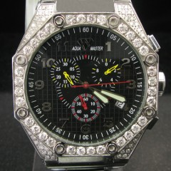 Mens Aqua Master Diamond Watch 4.50ct