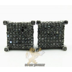 10k Black Gold Round Diamond Earrings 1.75ct