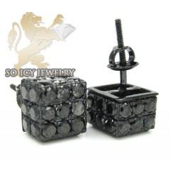 10k Black Gold Diamond 3d Black Ice-cubes 3.71ct