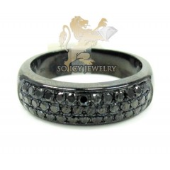 10k Black Gold Black Diamond Pave Fashion Ring 1.25ct