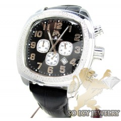 Techno Master Diamond Watch Black Color Dial 1.50ct