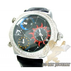 Techno Master Diamond Watch Black Color Dial 2.50ct