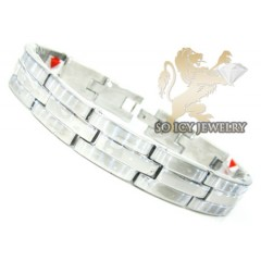 White Stainless Steel Multi-link  Bracelet