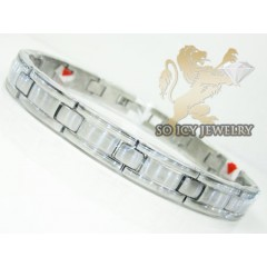 White Stainless Steel Fashion Bracelet