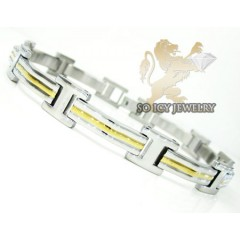 Two Tone Stainless Steel Fashion  Bracelet