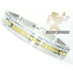 Two Tone Stainless Steel Screw Link Bracelet