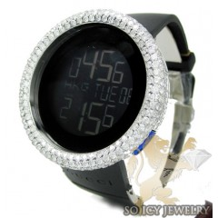 Mens Diamond Igucci Digital Full Case Big Bezel Watch 12.50ct