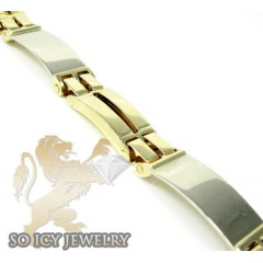 10k Yellow Gold Fashion Bracelet 8.75 Inches O.40 Inches Wide
