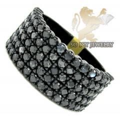 Mens 10k Black Gold Black Diamond Band 3.17ct