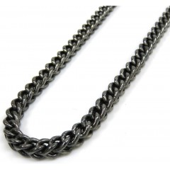 10k black gold franco link chain 30 inch 4.3mm