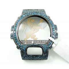 Blue Diamond Black .925 Italy G-shock Case 5.50ct