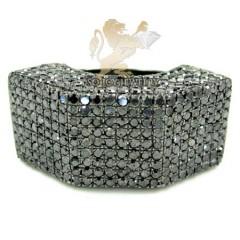 Mens 14k Black Gold Black Diamond Fashion Ring 6.00ct
