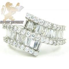 Ladies 18k White Gold Baguette Diamond Fashion Ring 2.00ct