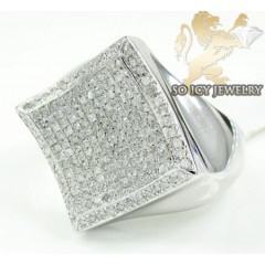 Mens Sterling Silver Diam...