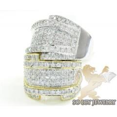 Mens 14k Yellow Or White Gold Diamond Fashion Ring 1.95ct