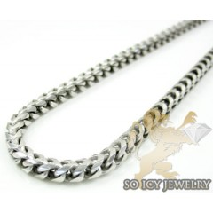 .925 Sterling Silver Franco Italy Chain 30-36 Inches 3mm