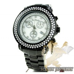 Mens Joe Rodeo Black Stainless Steel Junior Diamond Watch 4.75ct Jju81