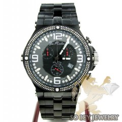 Mens Joe Rodeo Black Stainless Steel Phantom Diamond Watch 2.25ct Jptm27
