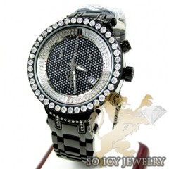 Ladiess Joe Rodeo Black Stainless Steel Master Diamond Watch 2.00ct Jjml10
