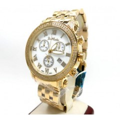 Mens Joe Rodeo Yellow Stainless Steel Classic Diamond Watch 1.75ct Jcl23