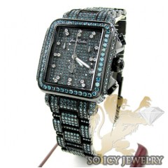 Ladies Joe Rodeo Black Stainless Steel Madison Blue Diamond Watch 13.50ct Jrmd35