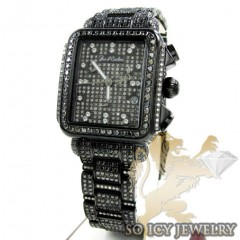 Ladies Joe Rodeo Black Stainless Steel Madison Black Diamond Watch 13.50ct Jrmd34