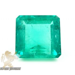 Gia 22.41ct Octagonal Green Natural Emerald