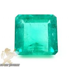 Gia 22.41ct octagonal green natural emerald