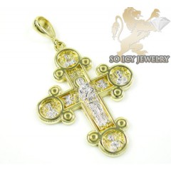 14k Yellow Gold Fancy Cross