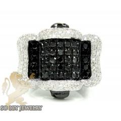 Mens 10k Black Gold Black & White Diamond Fashion Ring 2.77ct