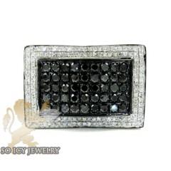 Mens 10k Black Gold Black & White Diamond Fashion Ring 2.93ct