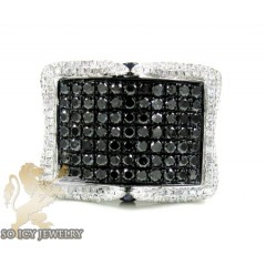 Mens 10k Black Gold Black & White Diamond Fashion Ring 3.45ct
