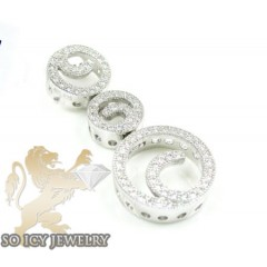Sterling Silver Cz Fancy ...