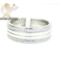 Unisex Sterling Silver Cz...
