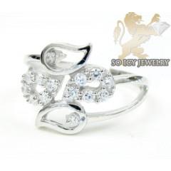 Sterling Silver White Cz ...