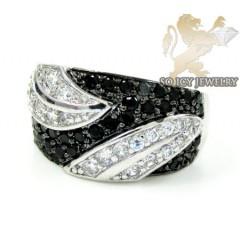 Sterling Silver Black & W...
