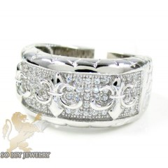 Sterling Silver White Cz ...