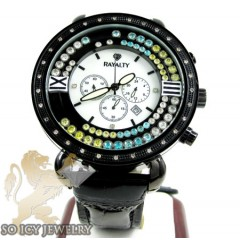 Mens Rayalty Diamond Classic Black Xl Watch 0.35ct
