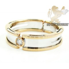Mens Baraka 18k White & R...