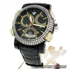 Mens Aqua Master Black & Yellow Steel Diamond Automatic Titanic Watch 3.50ct