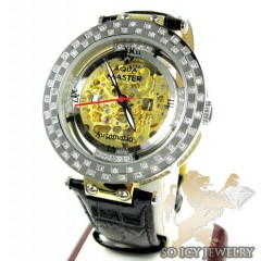 Mens Aqua Mater Yellow & White Steel Automatic Diamond Watch 1.25ct