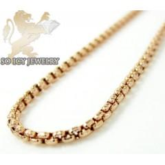 14k Rose Gold Box Link Ch...