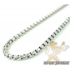14k white gold box link chain 18-28 inch 1.5mm