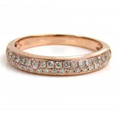 Ladies 14k Rose Gold Diam...
