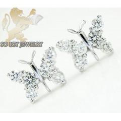 18k White Gold Diamond Butterfly Earrings 0.59ct