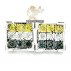 .925 White Sterling Silver Diamond Cut Diamond Earrings 0.50ct